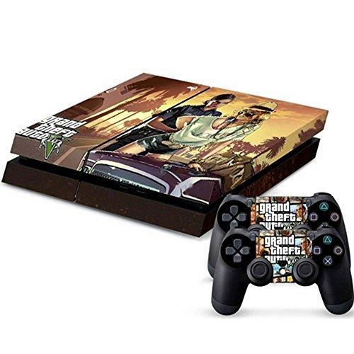 ModFreakz® Console/Controller Vinyl Skin Set - Car Grand Theft Robbery for PS4 Original