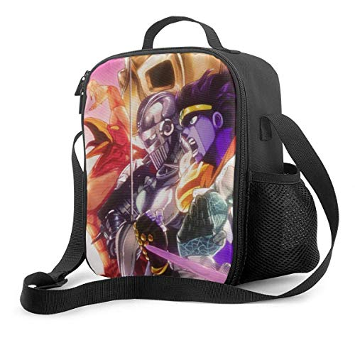 JDSFH JoJo 'S Bizarre Star Platinum Silber Chariot Insulated Lunch Bag