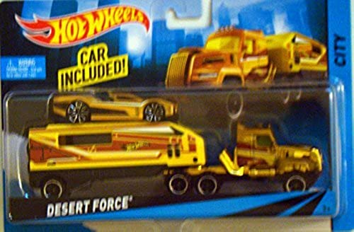 Hot Wheels City Rig Desert Force - Car with Transporter by Hot Wheels