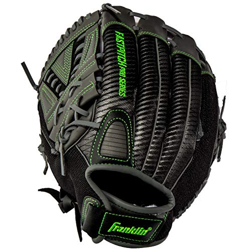 Franklin Sports Fastpitch Softball Glove - Fastpitch Pro - Adult and Youth Softball Mitt - Infield and Outfield - Left Handed Glove - Lime 11' Lefty