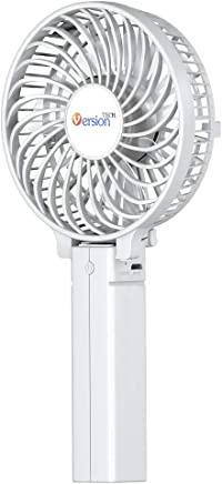 VersionTECH. Mini Handheld Fan, Personal Portable Desk Stroller Table Fan with USB Rechargeable Battery Operated Cooling Folding Electric Fan for Office Room Outdoor Household Traveling White