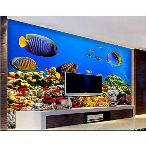 Fototapete 3d effekt Eigene 3d fototapete raumwandbild Tropical Fish Treasure 3d fotomalerei TV hintergrund vliestapete für wand 3d