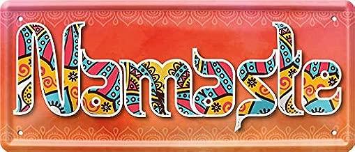 Namaste Yoga 962 - Cartel Decorativo de Chapa (28 x 12 cm ...
