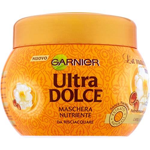 Garnier Ultra Dolce Meravigliosa Maschera Nutriente per Capelli Secchi Spenti, 300 ml