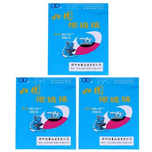 VILLCASE 300 Piezas de Papel de Limpieza para Microscopio Papel de Seda para Limpieza de Lentes de Microscopio Seguro