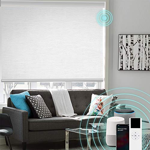 XINGXUN High Precision Customized Color and Size Motorized Window Roller Shades/Blinds with Built-in...