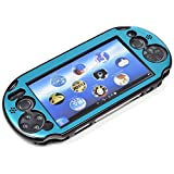 COSMOS  Light Blue Aluminum Metallic Protection Hard Case Cover for PlayStation PS VITA 2000 & Cosmos Brand...