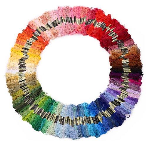 Auped 200 Docken Sticktwist Stickgarn 8m 6/faedig Multicolor farblich