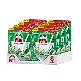 Pato Active Clean - Colgador wc, frescor intenso, perfuma, limpia y desinfecta el inodoro, aroma Pino. (Pack 8 unidades)