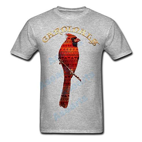 Hombres de Cardinals Camiseta con diseño de gráfico, Native American Indian triángulo patrón Tribal Cardinal tee, 109