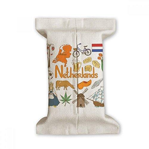 DIYthinker Nederland Landscap Dieren Nationale Vlag Tissue Papier Cover Katoen Linnen Houder Opslag Container Gift