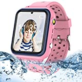 Kids Smartwatches for Girls Boys - Waterproof Kids Smart Watches Phone, HD IPS Touch Screen Call Watch for Kids with 11 Games 3 Alarm Music Video Camera Torch, Birthday Gifts for Kids Ages 3-14