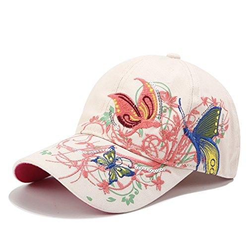 Women Baseball Caps, Adjustable Breathable Embroidered Sun Hat for Sport Golf Mesh Sunbonnet Outdoor White