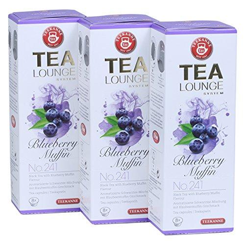Teekanne Tealounge Kapseln - Blueberry Muffin No. 241 Schwarzer Tee (3x8 Kapseln)