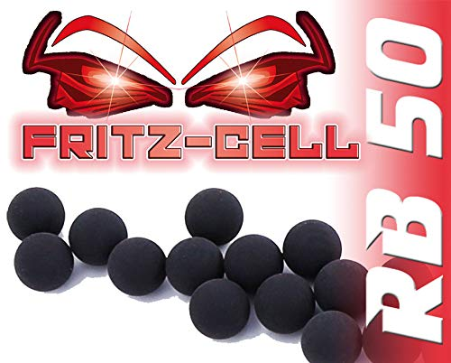 100 x Rubberballs Cal.50 Gummigeschosse Fritz-Cell kompatibel mit T4E HDR50 / HDP5