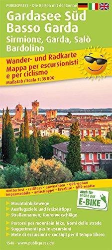 Gardasee Süd, Basso Garda, Sirmione, Garda, Salò, Bardolino 1: 35 000: Wander- und Radkarte mit Ausflugszielen & Freizeittipps