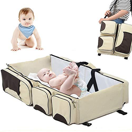 YSYDE 3 in 1 Universele Baby Reistas Draagbare wieg wieg, luier veranderen tafel en luiertas voor pasgeborenen of baby's, De beste voor nieuwe moeders en vaders
