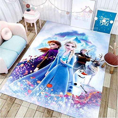 chengcheng Frozen Teppich Prinzessin Aisha Kinder Nachtteppiche Kinderzimmer Kinder Bodenmatte, rutschfeste Pad Home Decor 80x150cm