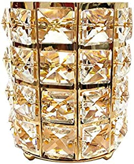 Europe Metal Makeup Brush Storage Tube Eyebrow Pencil Makeup Organizer Bead Crystal Jewelry Storage box