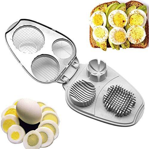 YiGanQiang Eierschneider – 3-in-1 Eierschneider aus Edelstahl, für Scheiben und Viertel Free Size (Color : 1)