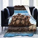 Auiss Plüsch-Überwurf, Samt, für H&e, Katzen, Schlaf, Thermo-Fleece, Camping, Tagesdecke für Damen, strapazierfähig, Flanellbezug für den Winter 50