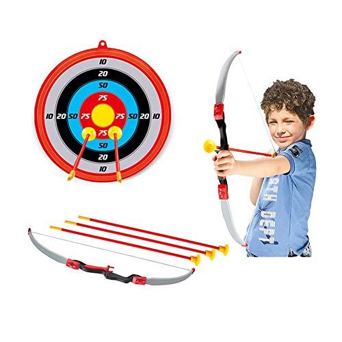 Juego de flechas con arco para niños con objetivos, función de ventosa y flechas de juguete para practicar deportes al aire libre para niños mayores de 3 años de edad