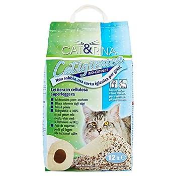 Cat&Rina Cat&Rina Catigiénica Litière pour Chats en Papier, biodégradable et Absorbant, 12 l