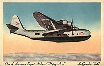 One of American Export Airlines' Flying Aces, La Guardia Field Original Vintage Postcard
