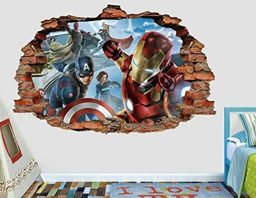 Papel pintado Pegatinas de pared para bebé Arte de la etiqueta engomada de la pared 3D de la etiqueta de la pared de la lucha del grupo del personaje de la película Papel pintado
