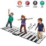 BAKAJI Tappeto con Tastiera Musicale Super Gigante per Bambini da Pavimento con Amplificatore...