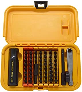 Chapman MFG 5575 Master Screwdriver Set 56 Pieces - Includes Phillips, Metric, Slotted, SAE & Metric Hex Bits, Star Bits (for Torx Screws), Complete Set Offers 51 Insert Bits, 300+ Combinations
