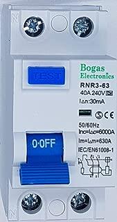 Dispositivo de corriente residual SI superinmunizado, 30 mA, 2P, 40 A, Clase A y 6kA.