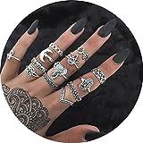 13pcs Orientalisches Vintage Fashion Midi Ringe Fingerring-Set für Damen Mädchen, Fashion Frauen Midi Ring Nagel Finger Band