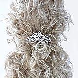 Deniferymakeup Pettinino per capelli da sposa con perle e diamanti sintetici, stile vintage, accessorio per acconciature per spose e donne