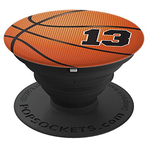 Basketball Fan #13 Trikot Nr. 13 Basketball Pop Griffe Gift - PopSockets Ausziehbarer Sockel und Griff für Smartphones und Tablets