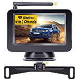 Yakry Y21 HD 720P Wireless Backup Camera 4.3'' Monitor Kit for Cars,SUVs,Minivans License Plate Rear/Front View Camera System