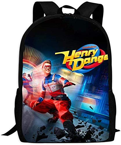 Mochilas Escolares de Viaje Henry Danger Printed School Backpack Water Resistant Travel Rucksack Bag Laptop Lightweight Backpack Daypack