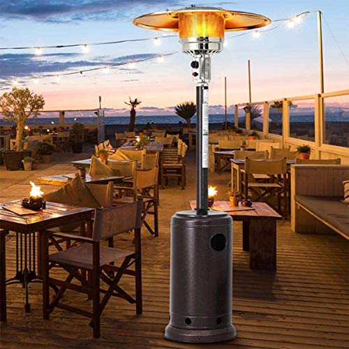 XKRSBS Natural Gas Outdoor Patio Heaters, Commercial 48000 BTU Patio Heater, Halogen Heater, Suitable for Indoor, Outdoor, Weddings, Parties, Gardens And Commercial Use