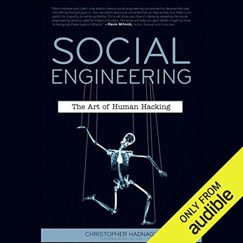 Social Engineering: The Art of Human Hacking audiobook cover art