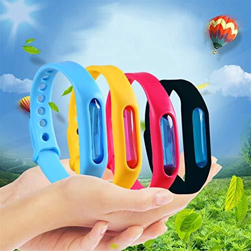 Zzx 3PCS Anti-Muggen Armband Effectieve Bescherming Kinderen Milieu Siliconen Polsband Zomer Muggenmelk Bracel (Color : 3PCS random)