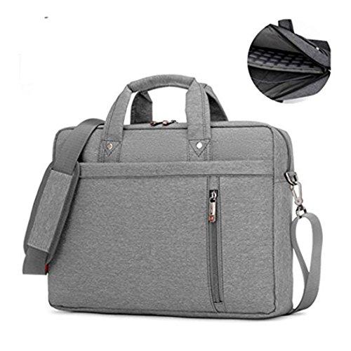 17.3' Waterproof Shockproof Roomy Stylish Laptop Shoulder Messenger Bag Handle Bag Tablet Briefcase For 17 Inch Laptop/Tablet/Macbook/Surface (Grey)