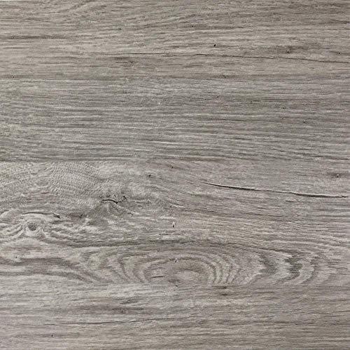 Klebefolie in grauer Holz-Optik [200 x 67,5cm] I Selbstklebende Folie für Möbel Küche & Deko I Blickdichte Selbstklebefolie hitzebeständig & abwaschbar I 3D Holz-Maserung Dekor