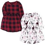 Hudson Baby Girl's Cotton Dresses, Deer, 3 Toddler
