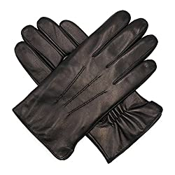 Best Gloves For Driving In Winter - Harssidanzar Men's Luxury Italian Sheepskin Leather Gloves