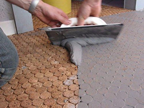 Fugenmasse/Flexfuge/Fugenmörtel (5 kg, mittelgrau): Für keramische Wand- und Bodenbeläge/Feinsteinzeug u.ä. / Glasbausteine/Korkmosaik/Geeignet für Nassräume und Outdoorbereiche