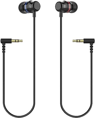 KIWI design Oculus Quest Headphones, Stereo Earbuds Custom Made in-Ear Earphones for Oculus Quest VR Headset (Black, ...