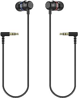 KIWI design Oculus Quest Headphones, Stereo Earbuds Custom Made In-Ear Earphones for Oculus Quest VR Headset (Black, 1 Pai...