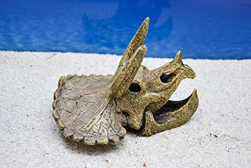 Amtra Triceratops Schädel Aquarium Dekoration Miniatur Dekofigur Aquarien Zubehör Fische Garnelen Terrarium