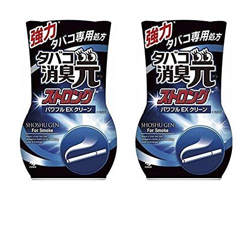 【まとめ買い】 タバコ消臭元ストロング 消臭芳香剤 部屋用 パワフルEXクリーン 400ml × 2個セット