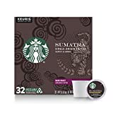 Starbucks Dark Roast K-Cup Coffee Pods — Sumatra for Keurig Brewers — 1 box (32 pods)